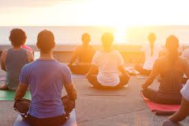 beach meditaiton